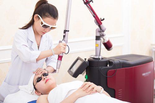 Điều trị mụn ẩn bằng tia Laser