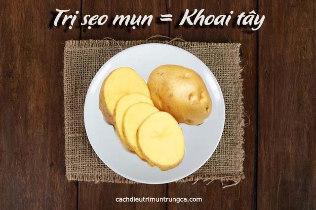 Cách trị sẹo mụn bằng khoai tây