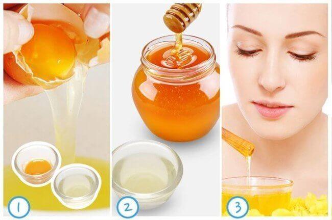 Cách làm trắng da mặt bằng trứng gà và mật ong