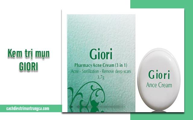thông tin về kem trị mụn Giori