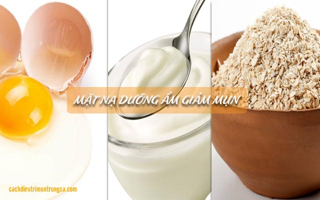 dưỡng da với mặt nạ trứng gà, bột yến mạch, sữa chua