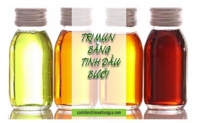 thoa tinh dầu bưởi để trị mụn
