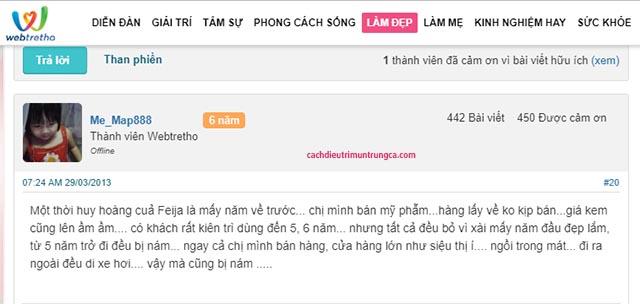 review kem Feiya