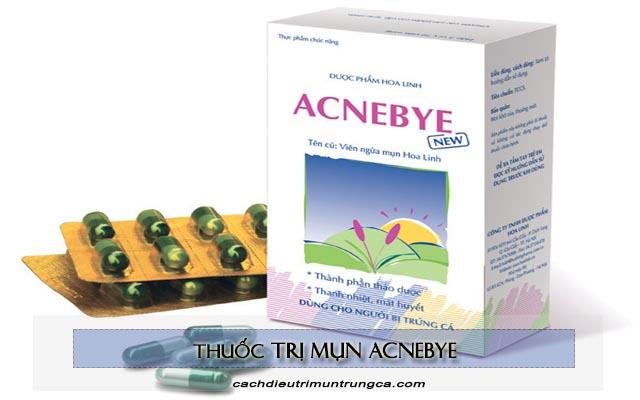 thông tin về viên uống trị mụn Acnebye