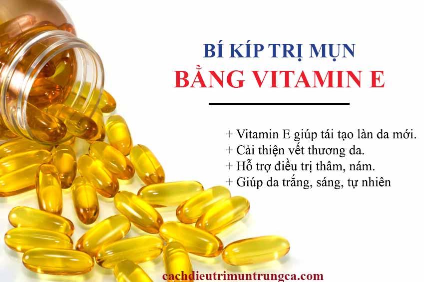 Tác dụng của việc trị mụn bằng vitamin E