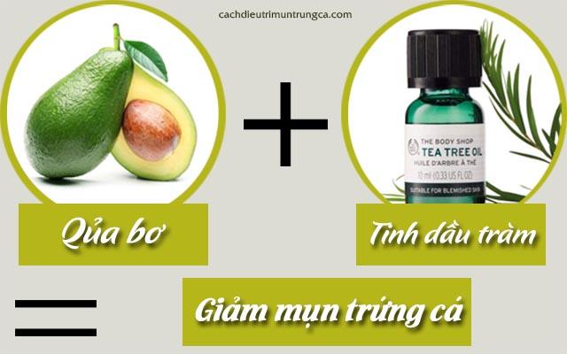 cách trị mụn với tinh dầu tràm trà và bơ