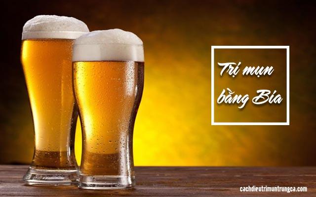cách trị mụn bằng bia