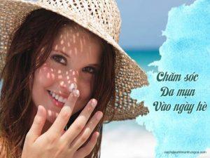 hướng dẫn chăm sóc da mụn vào mùa hè