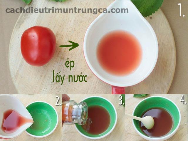 Hướng dẫn cách trị mụn cám bằng cà chua