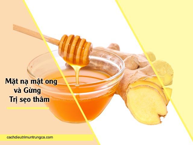 chữa thâm sẹo bằng mặt nạ gừng và mật ong