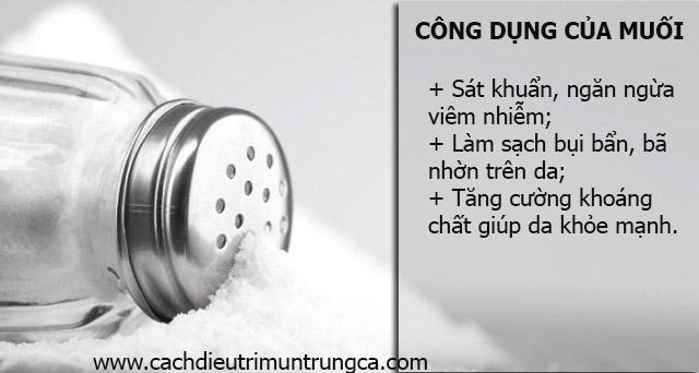 Công dụng của muối đối với cách trị mụn đầu đen