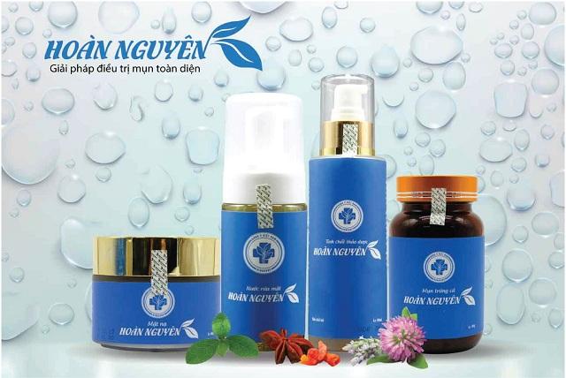 Bộ trị mụn Hoàn Nguyên chiết xuất từ thảo dược tự nhiên an toàn cho làn da