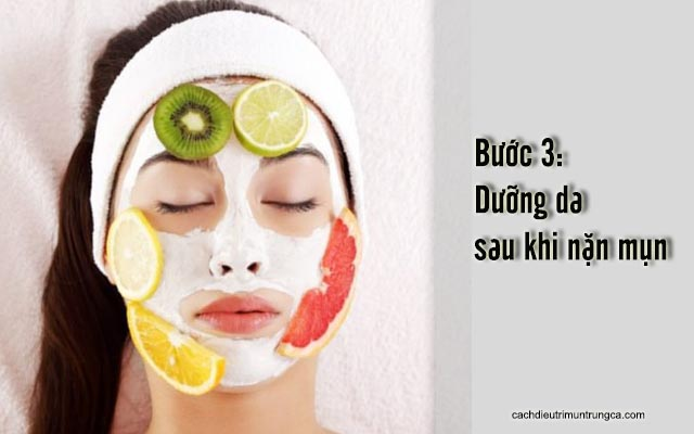chăm sóc da sau khi nặn mụn cám