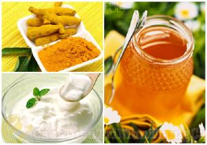 Kem trị mụn bọc từ mật ong, nghệ và sữa chua
