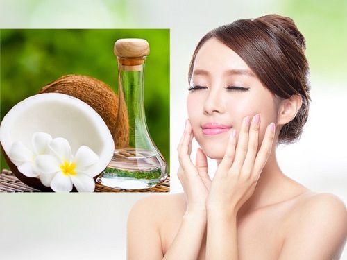 Chăm sóc da mặt bị khô với dầu dừa