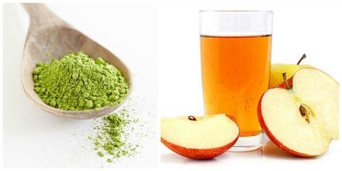 Trà xanh và giấm táo tạo nên mặt nạ trị mụn cám