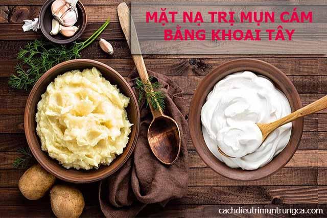 Mặt nạ trị mụn cám bằng khoai tây và sữa tươi không đường