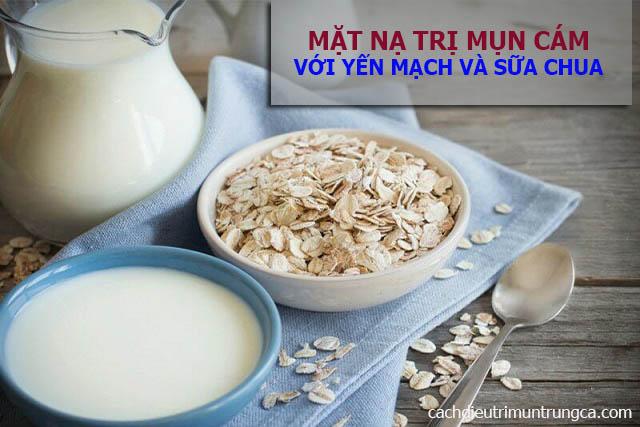 Mặt nạ trị mụn cám bằng yến mạch và sữa tươi không đường