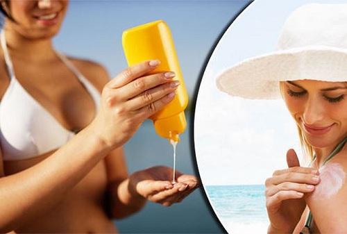 Thoa kem chống nắng để chăm sóc da mặt mỏng và nhạy cảm