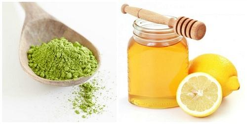 Mặt nạ trị mụn giảm vết thâm từ trà xanh, mật ong và chanh