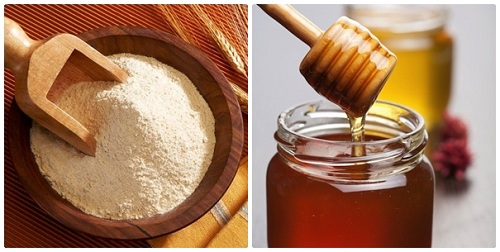 Mặt nạ trị mụn và dưỡng trắng da từ bột gạo và mật ong
