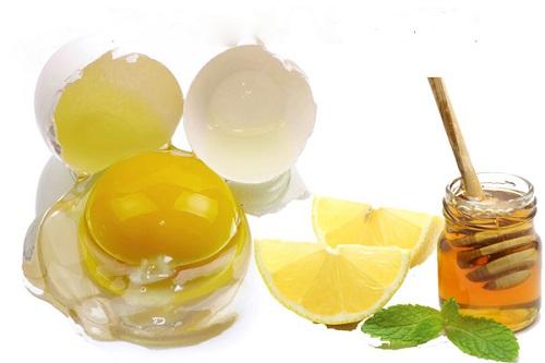 Mặt nạ trị mụn và dưỡng trắng da từ lòng trắng trứng gà, mật ong và chanh