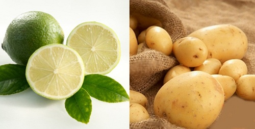Mặt nạ khoai tây và chanh tươi