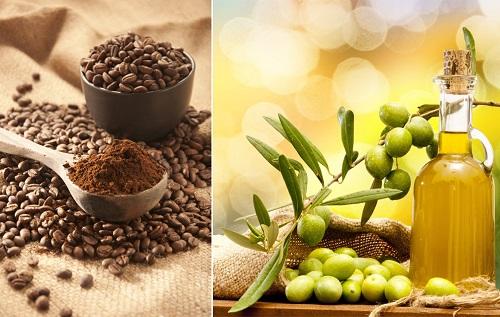 Mặt nạ trị mụn từ cà phê và dầu oliu