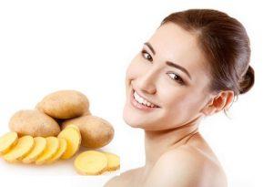 Chăm sóc da mặt bị nám bằng mặt nạ khoai tây