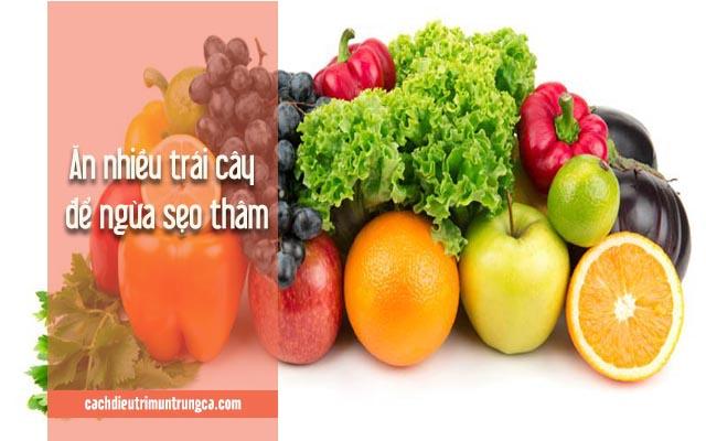 ăn nhiều trái cây ngừa bị sẹo thâm do mụn