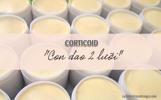 chất corticoid trong mỹ phẩm gây mụn mủ