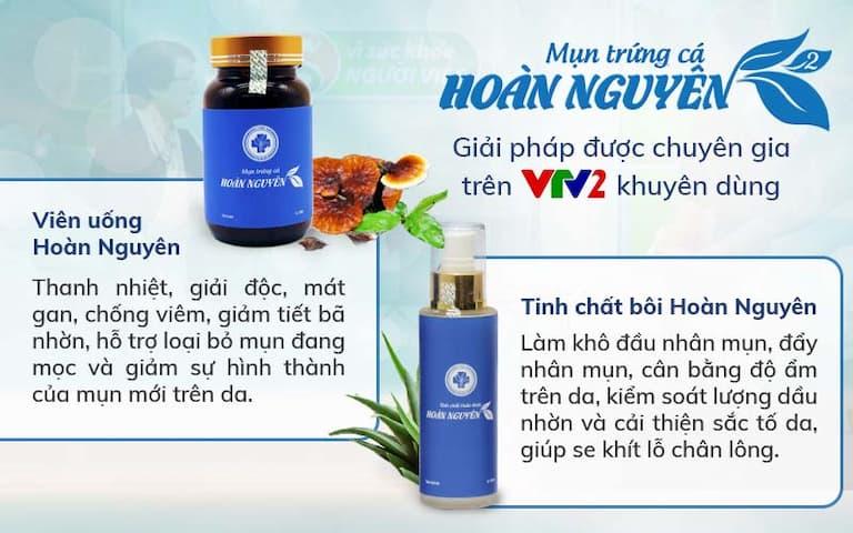 VTV2 đánh giá cao hiệu quả điều trị mụn Hoàn Nguyên