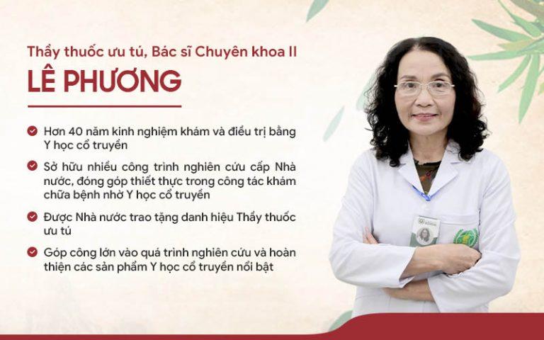 Bác sĩ Lê Phương - Chuyên gia hơn 40 năm kinh nghiệm khám, giải quyết vấn đề da