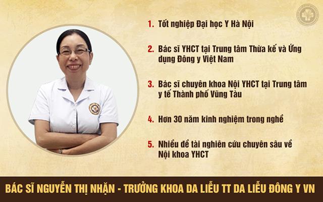 Bác sĩ Nguyễn Thị Nhặn là 1 trong những người tham gia vào đề tài nghiên cứu Hoàn Nguyên