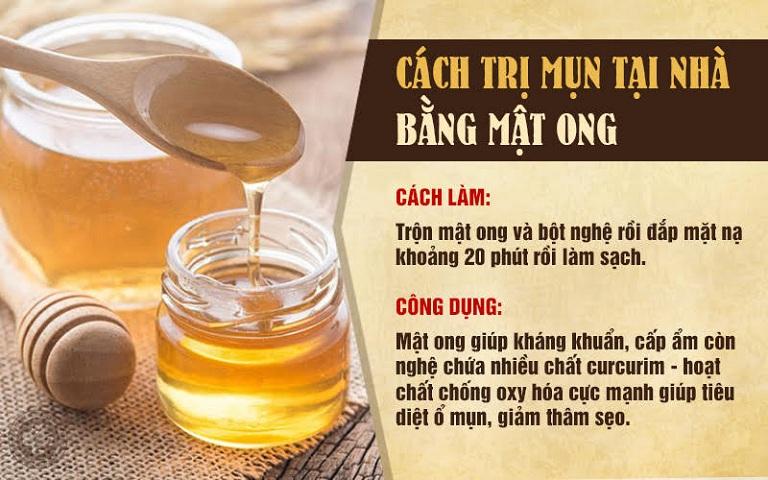 Mật ong giúp kháng khuẩn, tiêu diệt vi khuẩn gây mụn